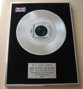 PET SHOP BOYS - WHERE THE STREETS HAVE NO NAME PLATINUM single presentation DISC